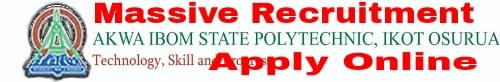 Akwa Ibom State Polytechnic Massive Recruitment for Academic and Non-Academic Staff